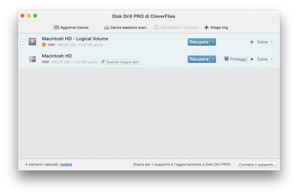 miglior programma per recuperare file con mac disk drill